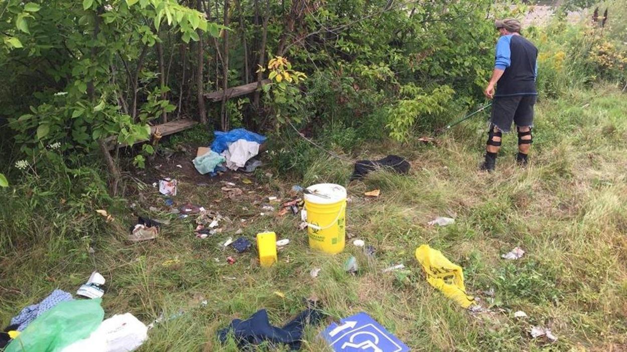 Une scène de résidus de toxicomanie à Moncton
