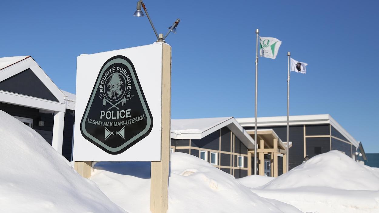 Poste de police de la communauté innue de Uashat-Maliotenam, sur la Côte-Nord