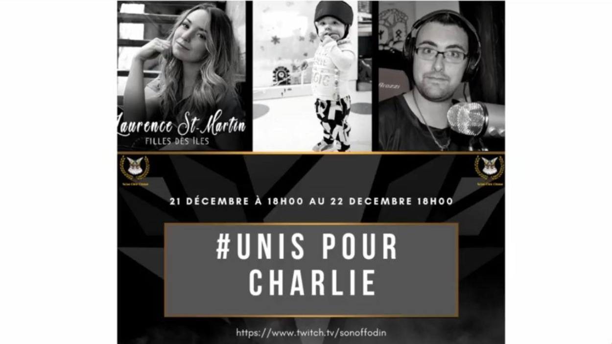 Affiche promotionnelle de l'événement #UnisPourCharlie