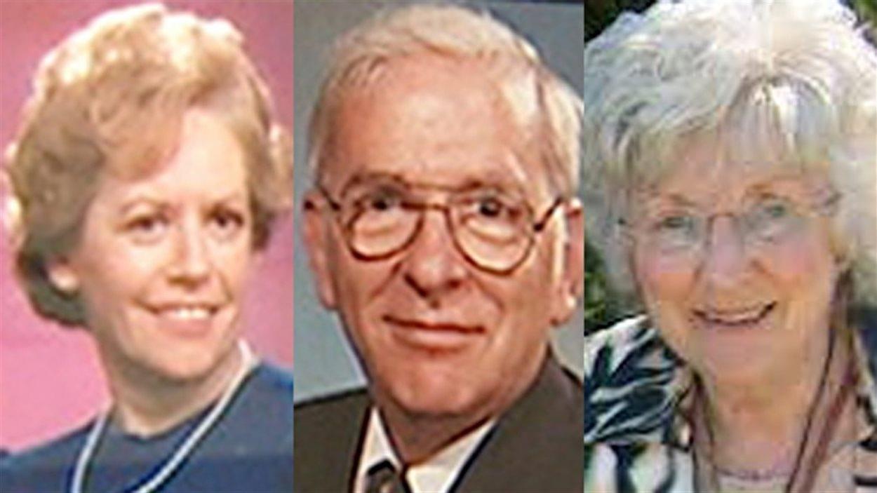 Raymonde Garon, Alban Garon et Marie-Claire Beniskos