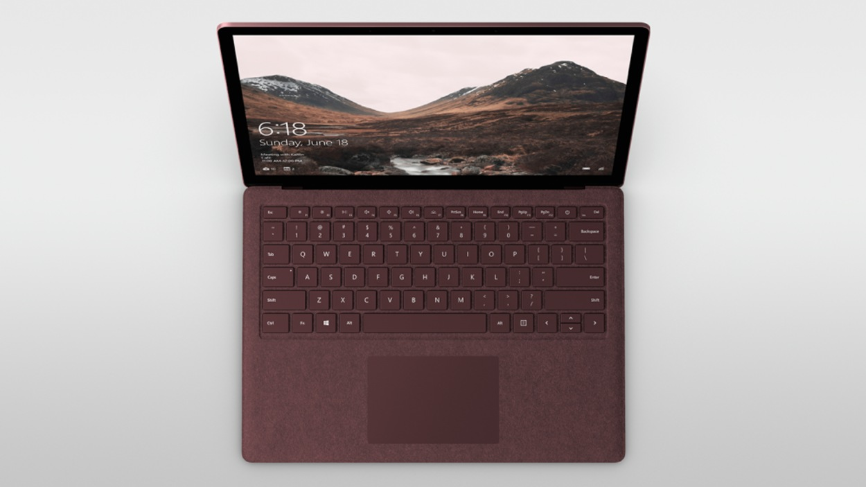 L'ordinateur portatif Surface de Microsoft.