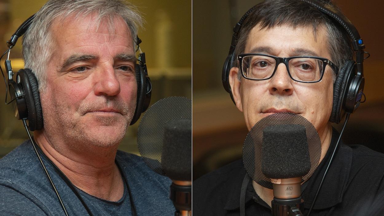 Mike Gauthier et Gilles Valiquette au micro de Stéphan Bureau.