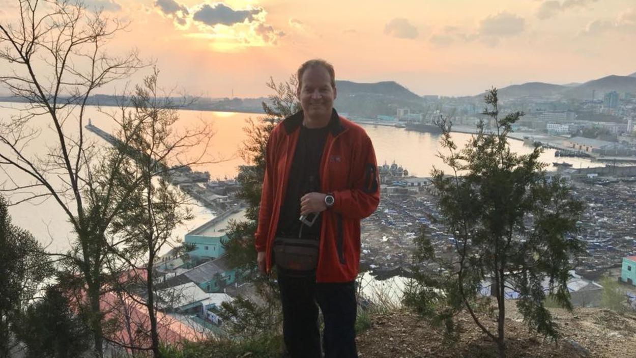 L'Abitibien Donald Renault lors de son voyage en Corée du Nord.