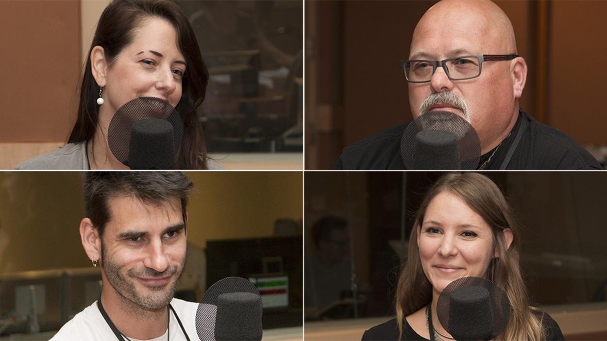 De g. à d. : Melsa Montagne, Michel Couture, Nicolas des Ormeaux et Joyane Marcotte