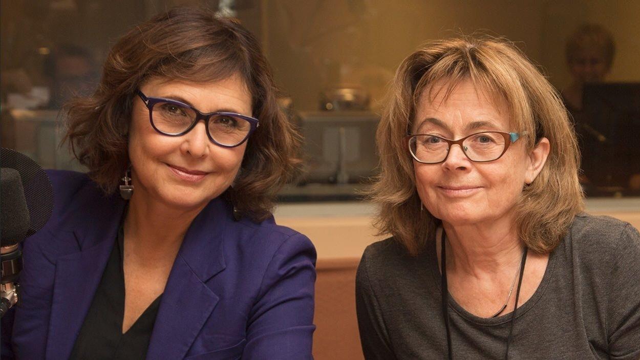 Les journalistes Alexandra Szacka et Agnès Gruda