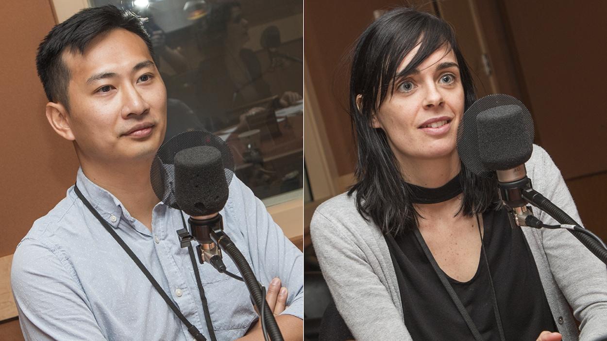 Paul Tom et Mélissa Lefebvre au micro de Catherine Perrin