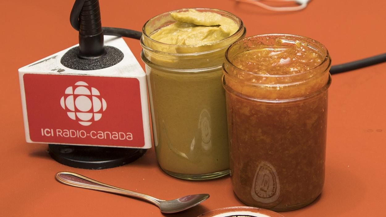 Des produits de l'organisme La Transformerie, préparés avec des aliments invendus dans les marchés d'alimentation.