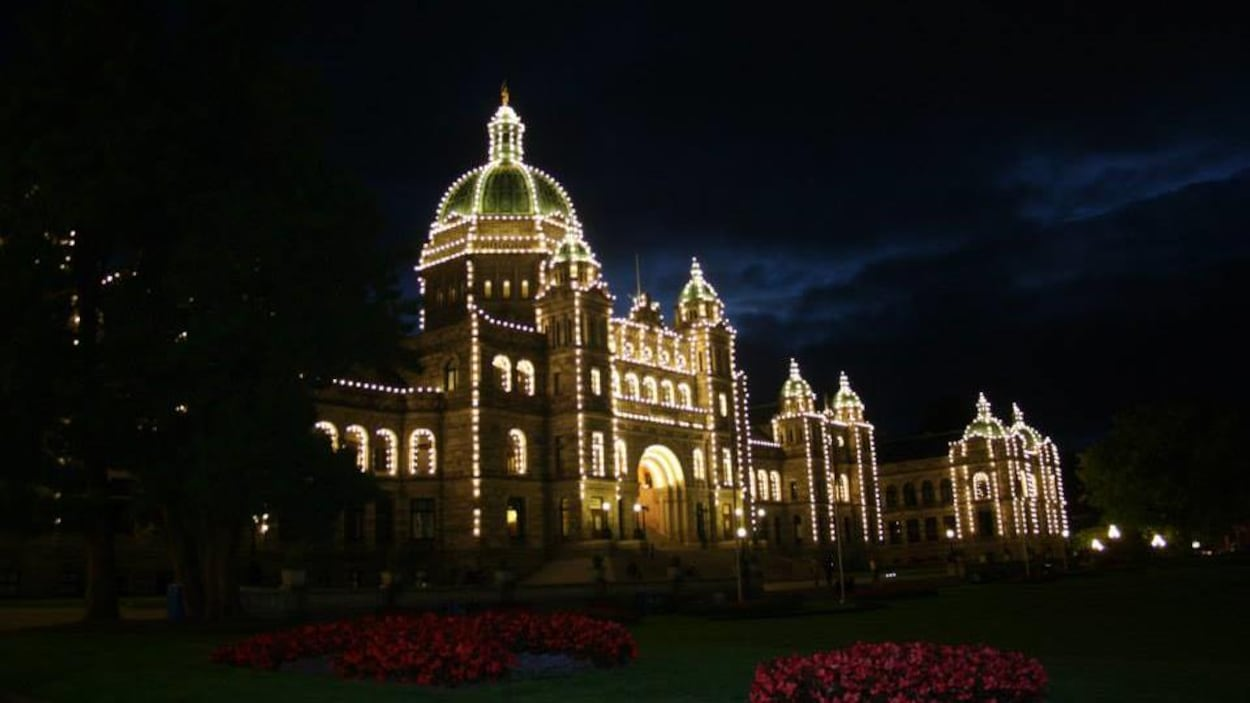 Le Parlement de Victoria, la nuit.