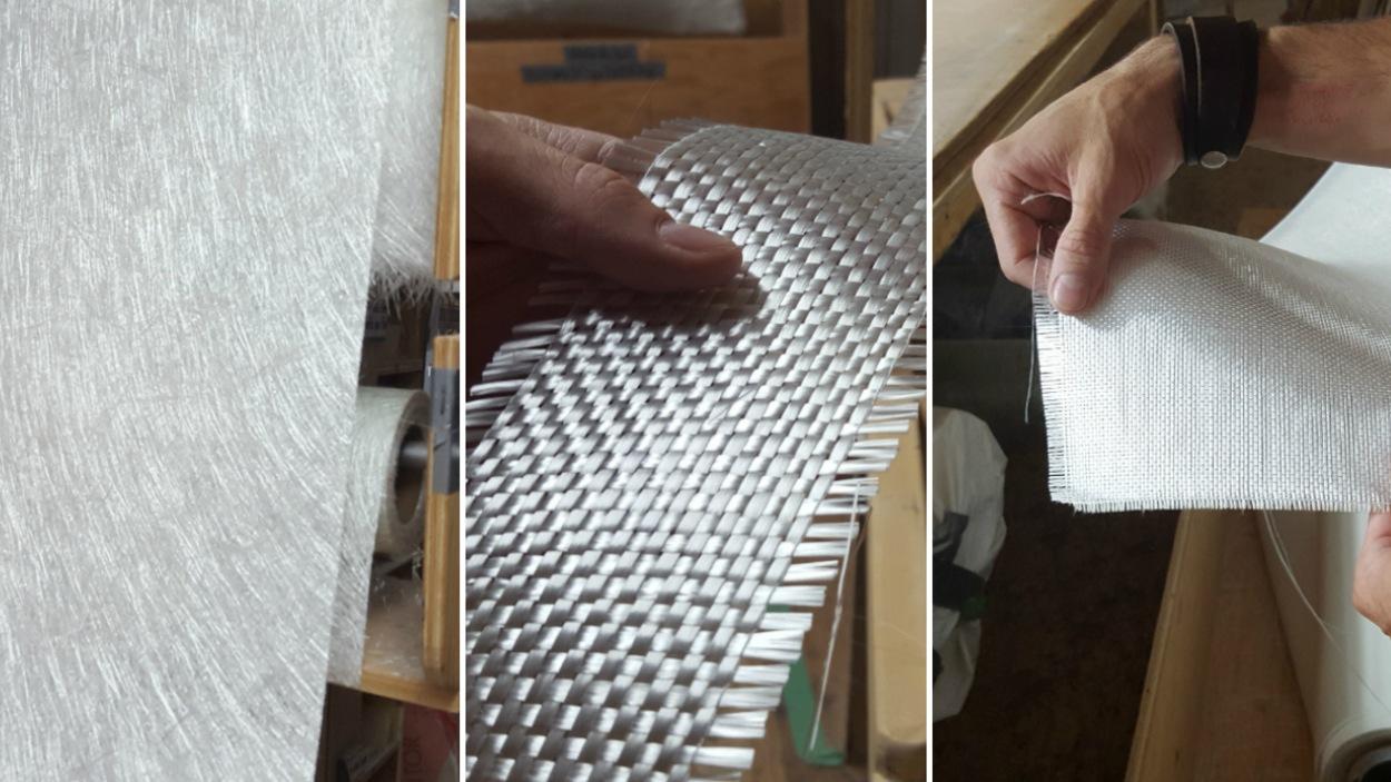 Il existe plusieurs types de fibre de verre, tissée ou tressée. Chaque type a des propriétés différentes.