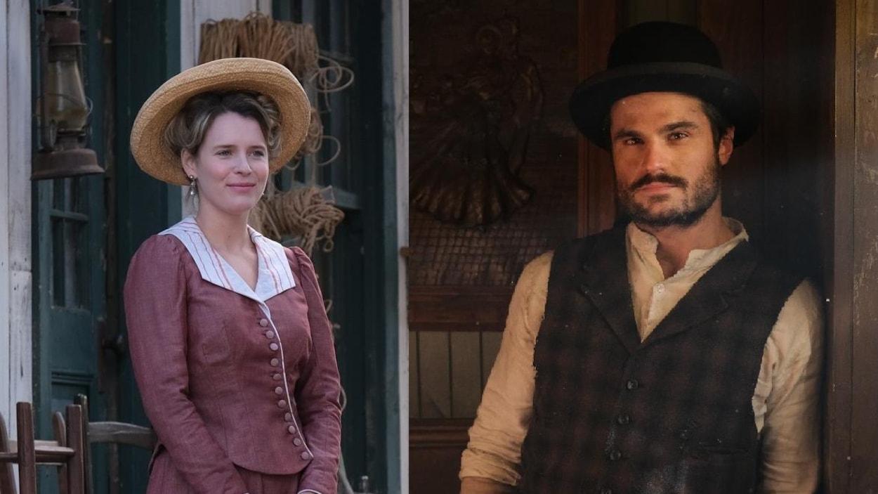 Charlotte Aubin et Hugo B. Lefort dans Les pays d'en haut.