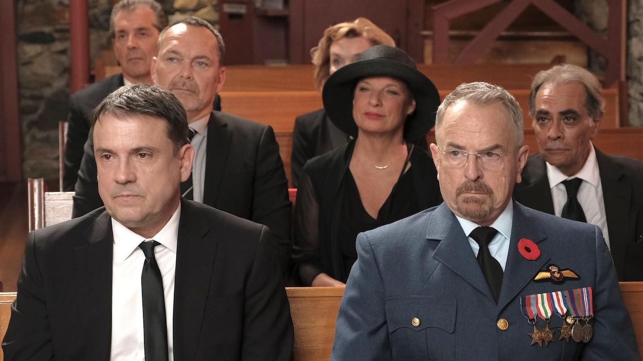 La famille et amis de Martin Petit à L'Église