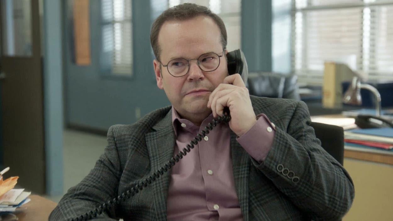 Bruno Gagné au téléphone.