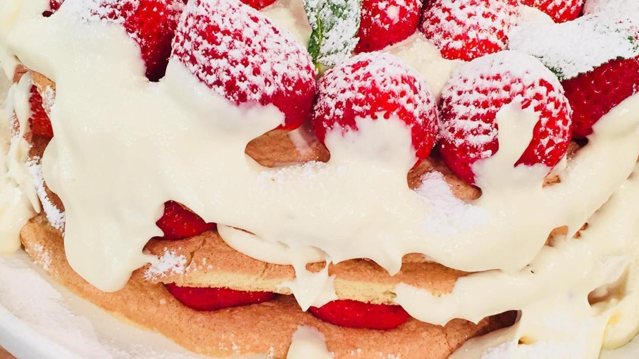 Le gâteau aux fraises de Marina Orsini