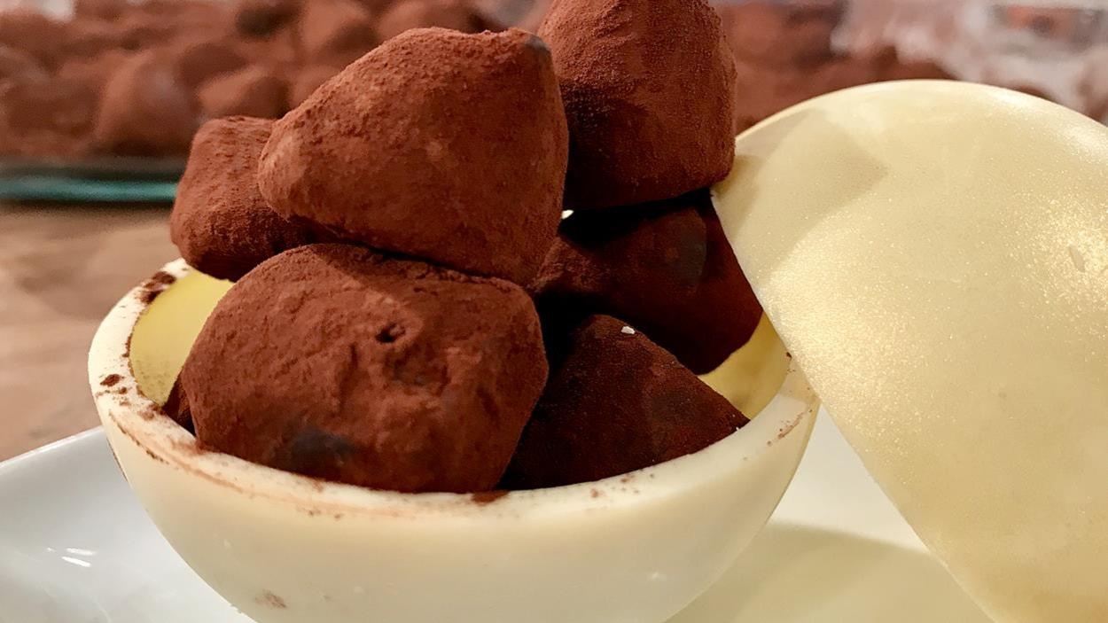 Des truffes dans un petit pot