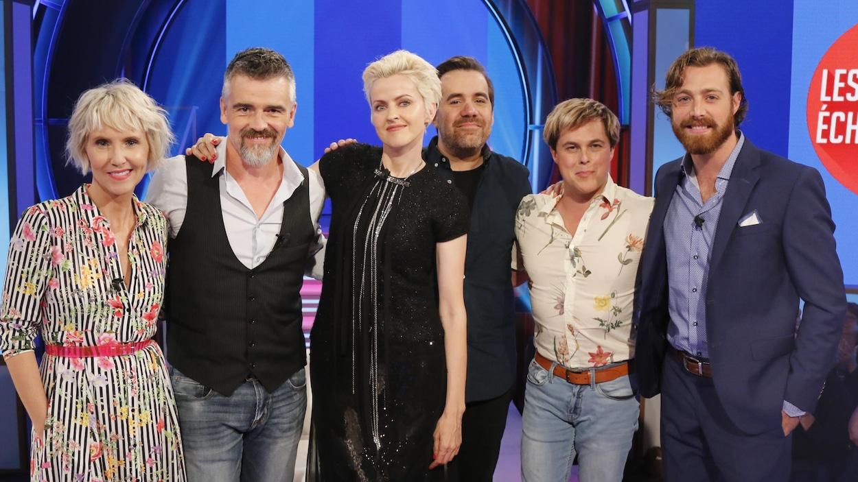 Pénélope McQuade et ses échangistes Alex Perron et Jean-Sébastien Girard reçoivent Patrice Godin, Geneviève Borne et Jonathan Roy