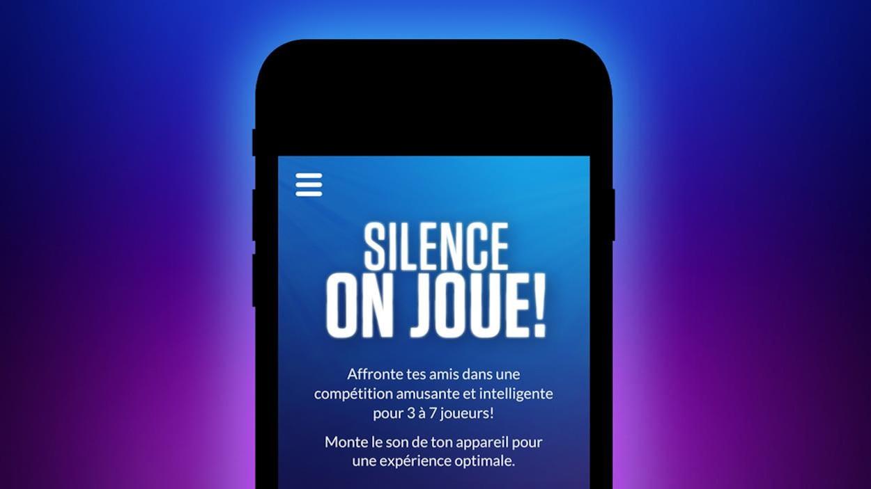 Une capture d'écran de l'application mobile Silence, on joue! avec les règlements.