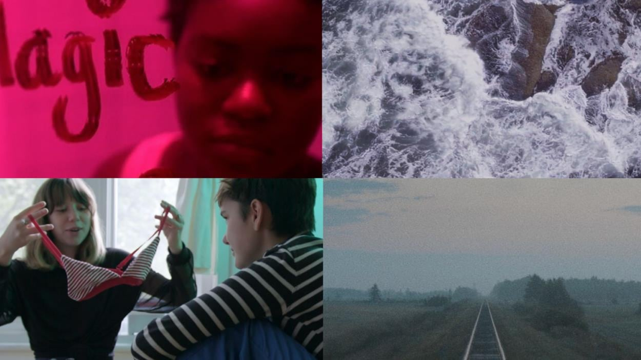 Des images tirées de quatre films.
