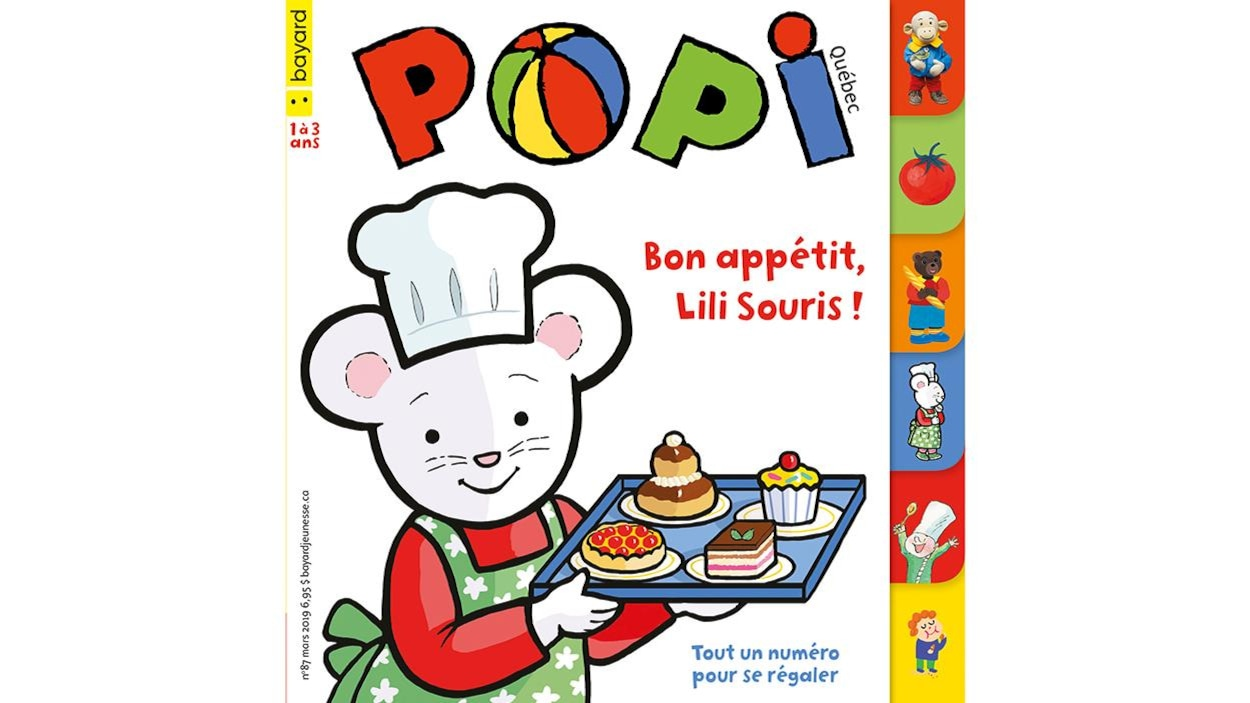 Couverture du magazine Popi : Bon appétit, Lili Souris.