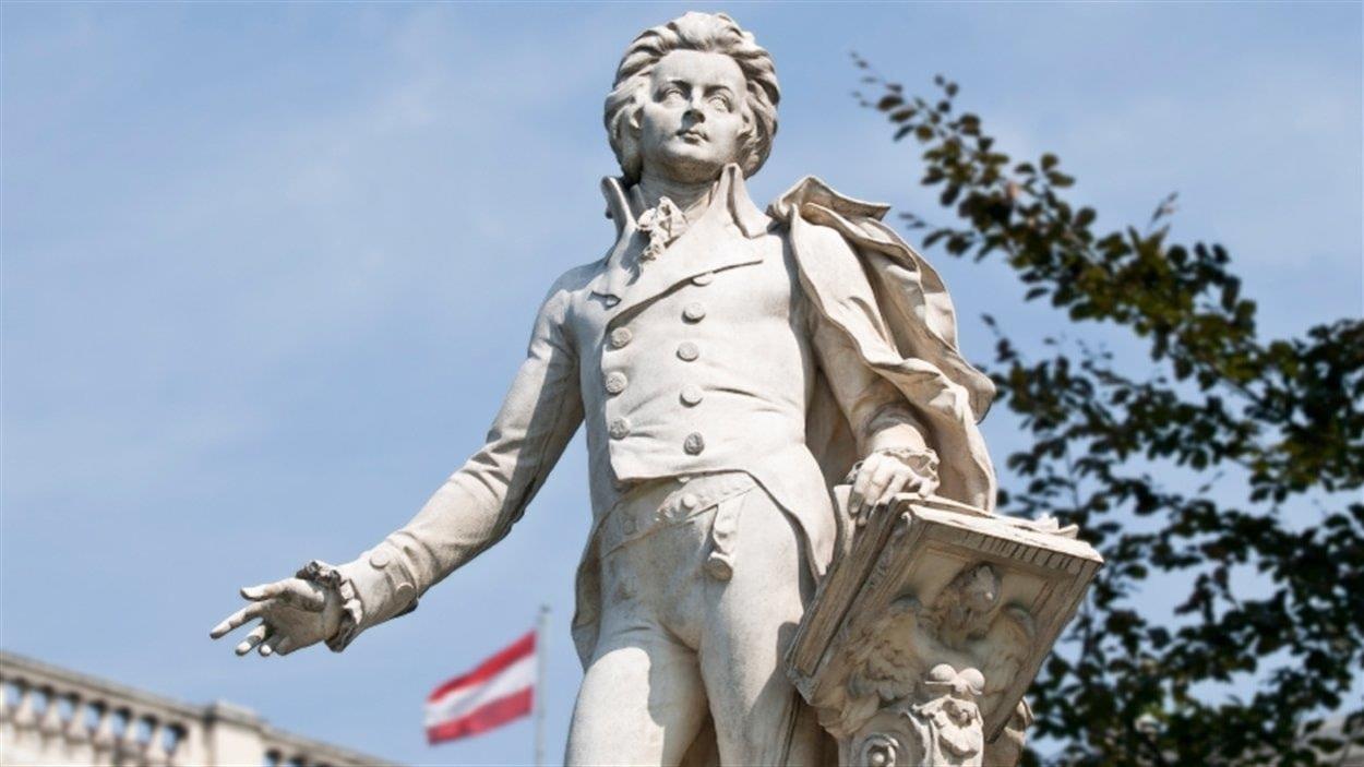 Une statue de Mozart