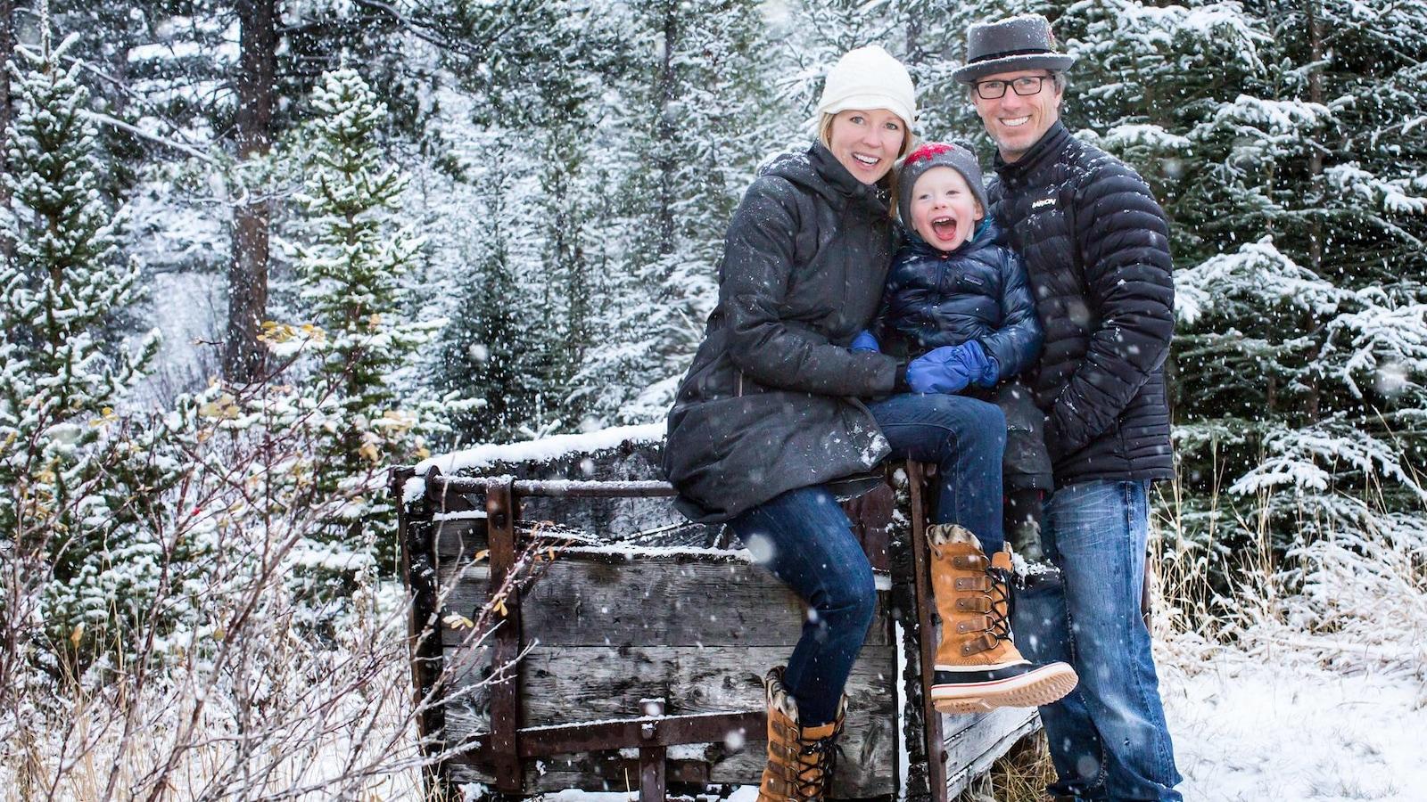 Kelly Vanderbeek entourée de sa famille