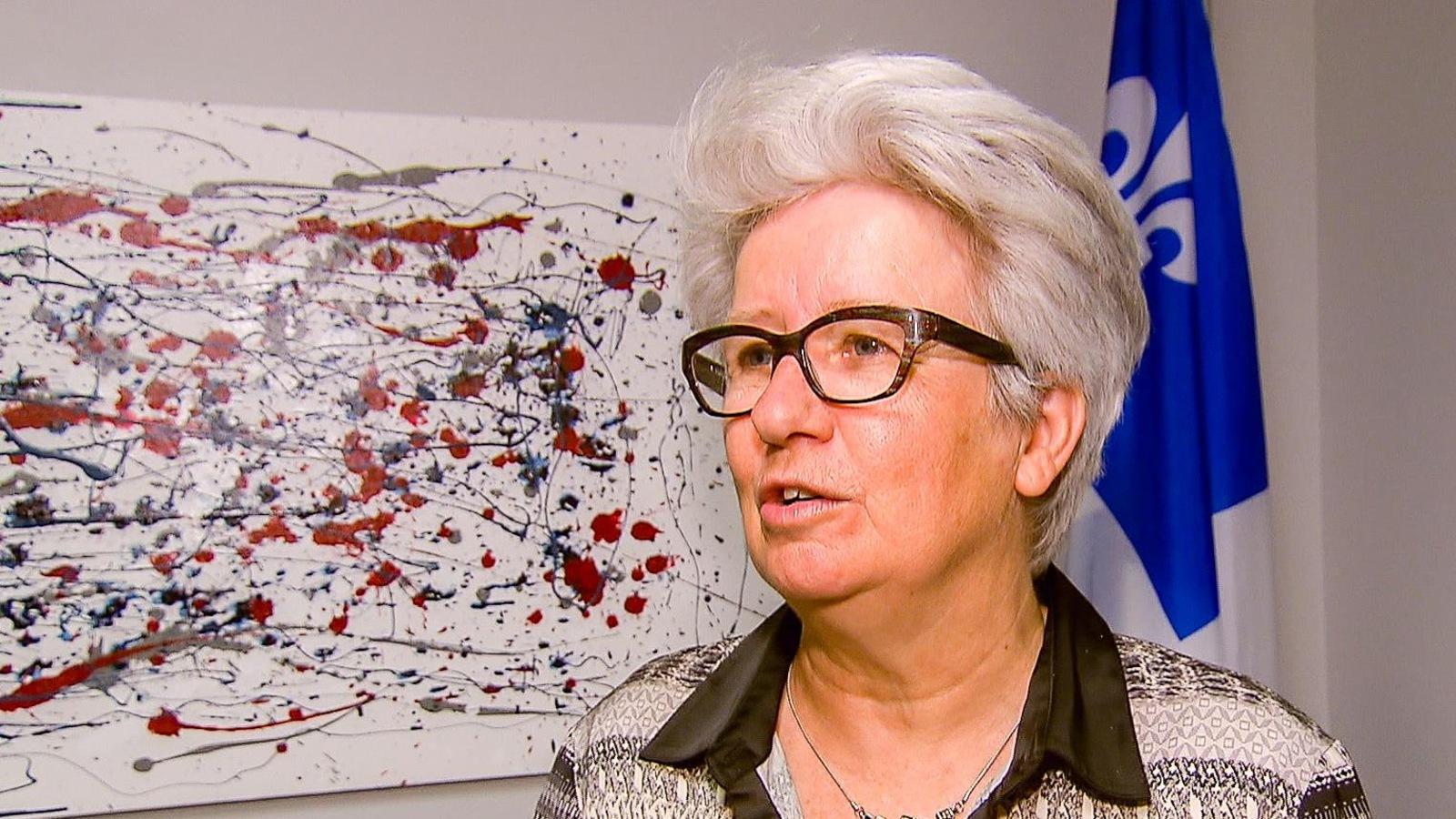Agnès Maltais, députée de Taschereau, en entrevue à son bureau de circonscription