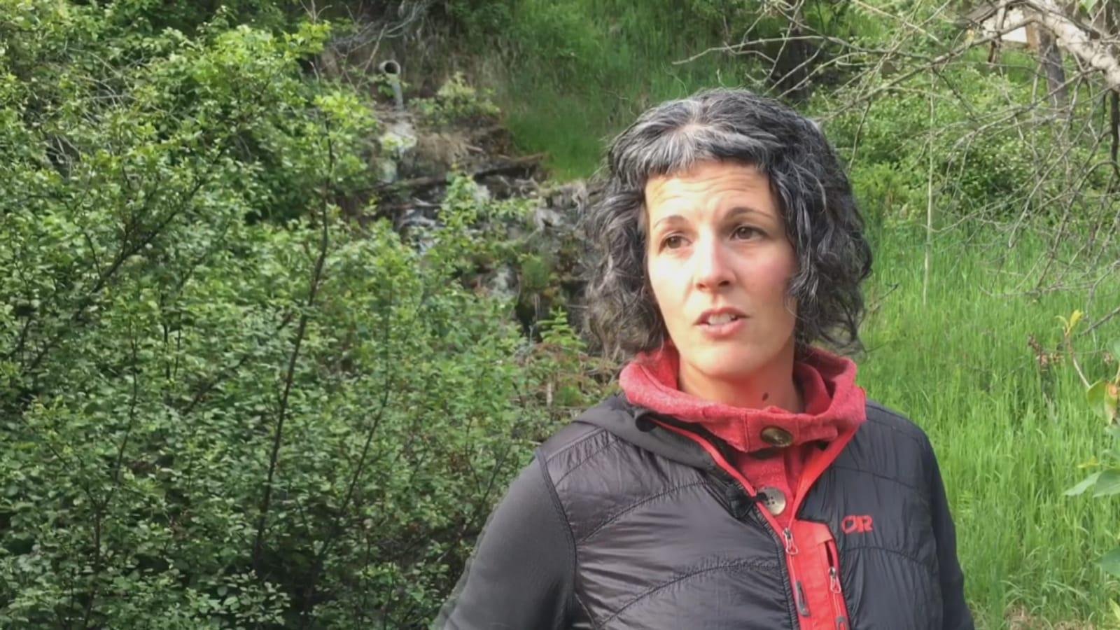 Portrait d'Anick dans la forêt