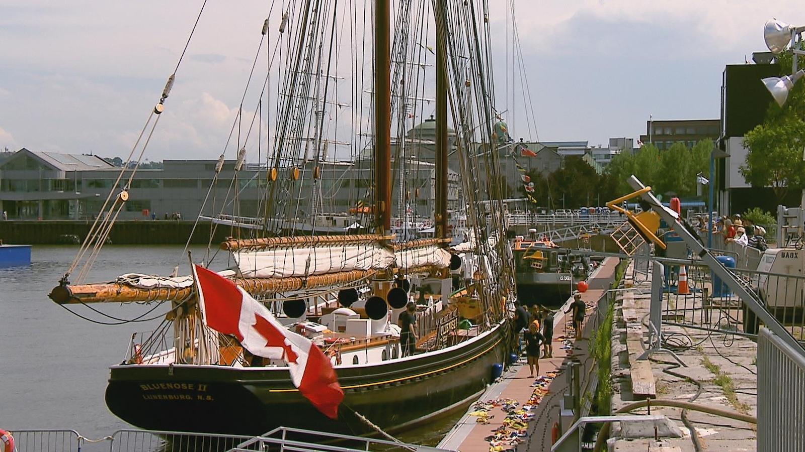 Le Bluenose II est arrivé au port de Québec