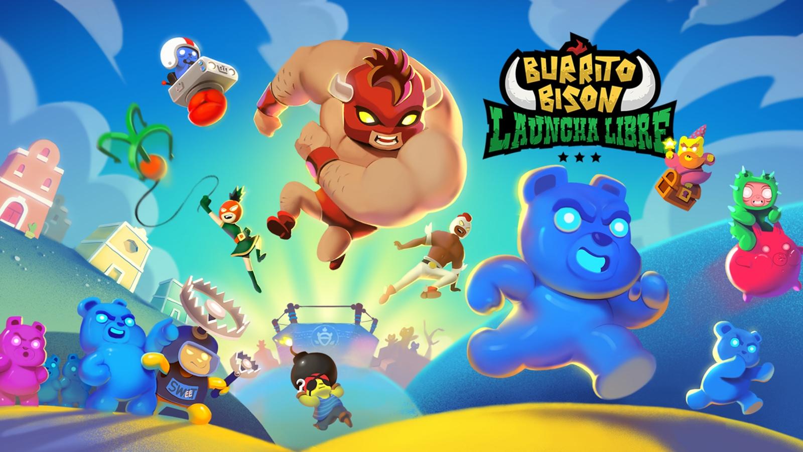 Image titre du jeu Burrito Bison Launcha Libre de Juicy Beast.