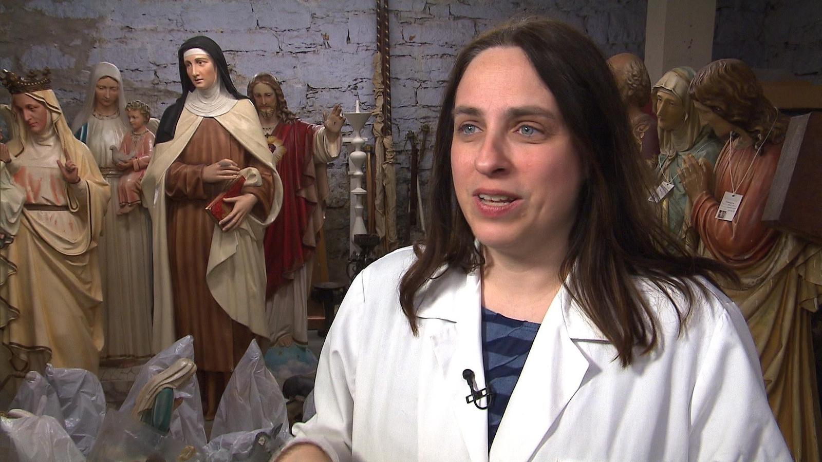 Caroline Tanguay, adjointe au Vicaire général pour les questions liées à l'art sacré et au patrimoine religieux au Diocèse de Montréal
