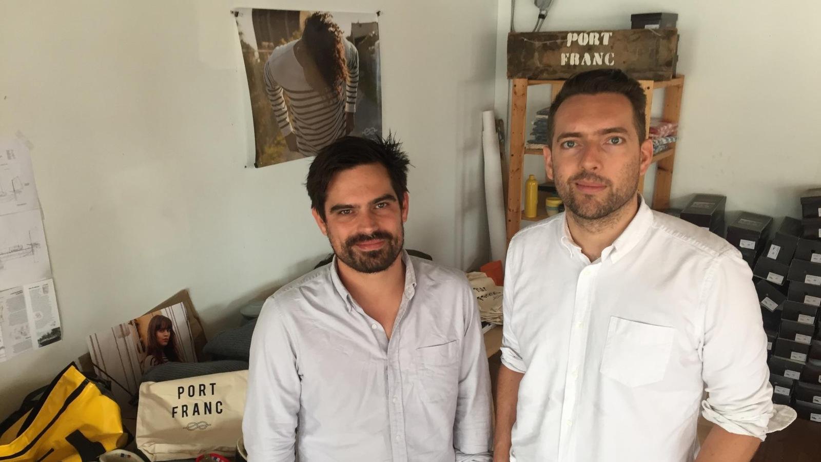 Clément Sabourin et Fabien Loszach, cofondateurs de l'entreprise d'import-export carboneutre Portfranc.