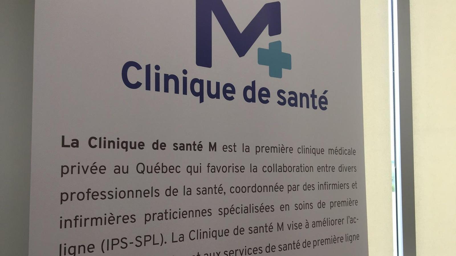 Affiche de la nouvelle clinique