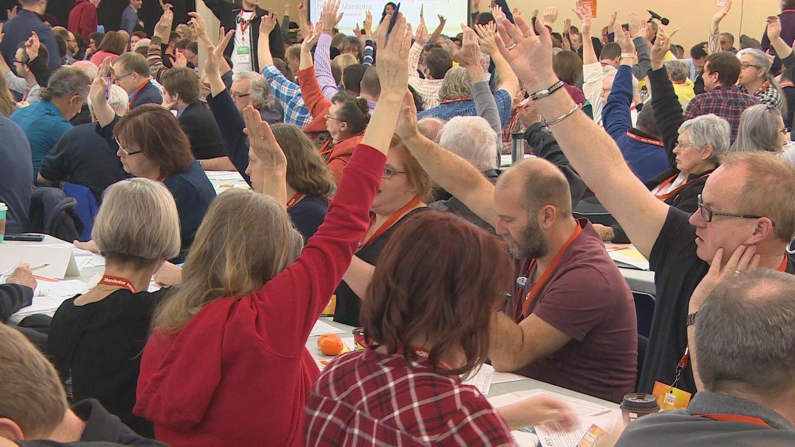 Des délégués au congrès 2017 du NPD du Manitoba