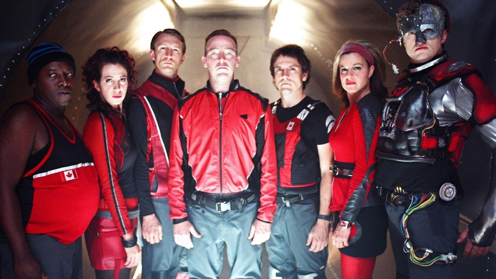Les principaux acteurs de la série télévisée Dans une galaxie près de chez vous.