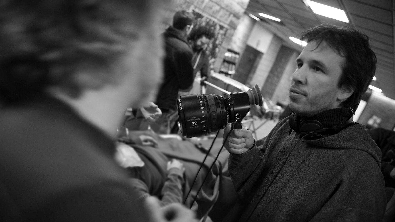 Denis Villeneuve sur le plateau du film « Polytechnique »