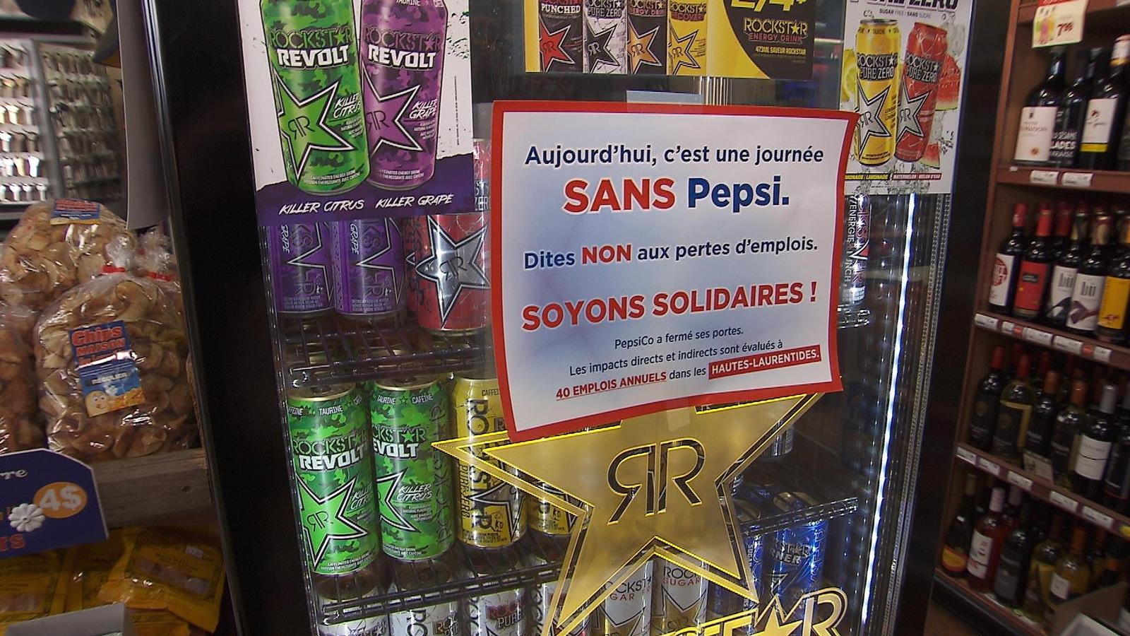 Depuis quelques mois, des commerces de Mont-Laurier mènent une campagne de boycottage contre Pepsi, après que l'entreprise eut décidé de transférer son centre de distribution à Montréal.