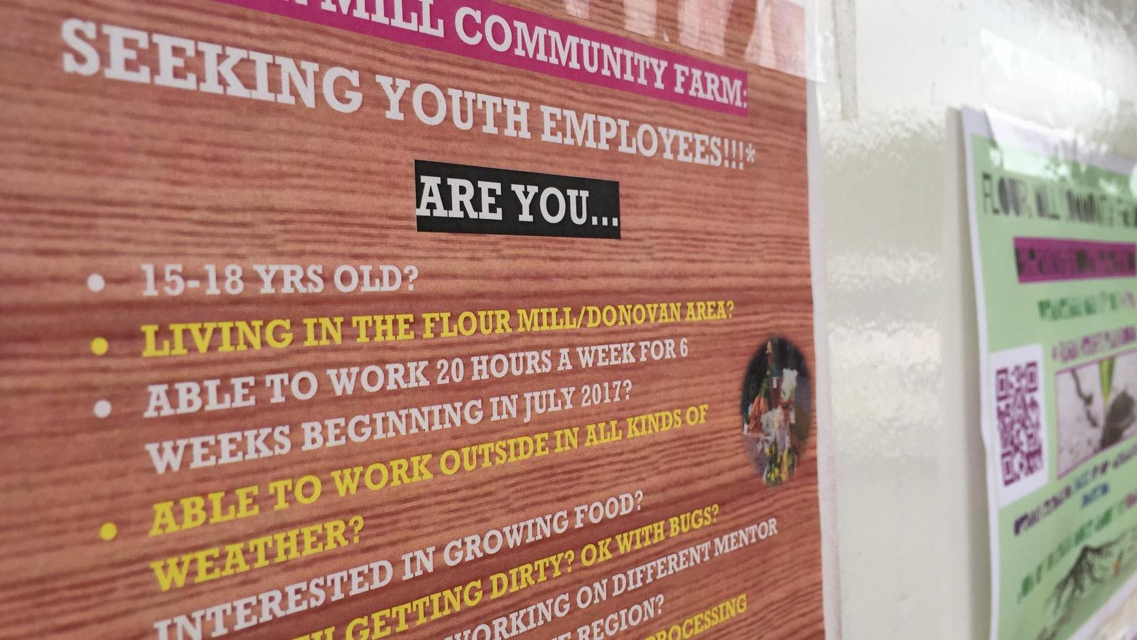 L'offre d'emploi au centre communautaire de Ryan Heigts détaille les critères d'embauche.