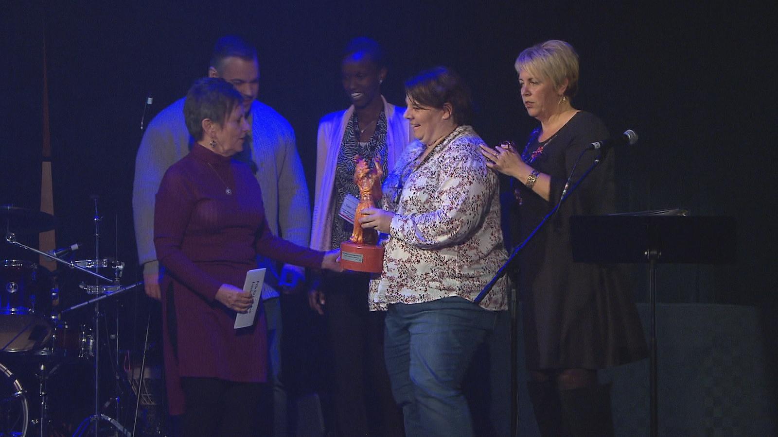 La remise des prix RADARTS lors de la soirée d'ouverture de la FrancoFête en Acadie.