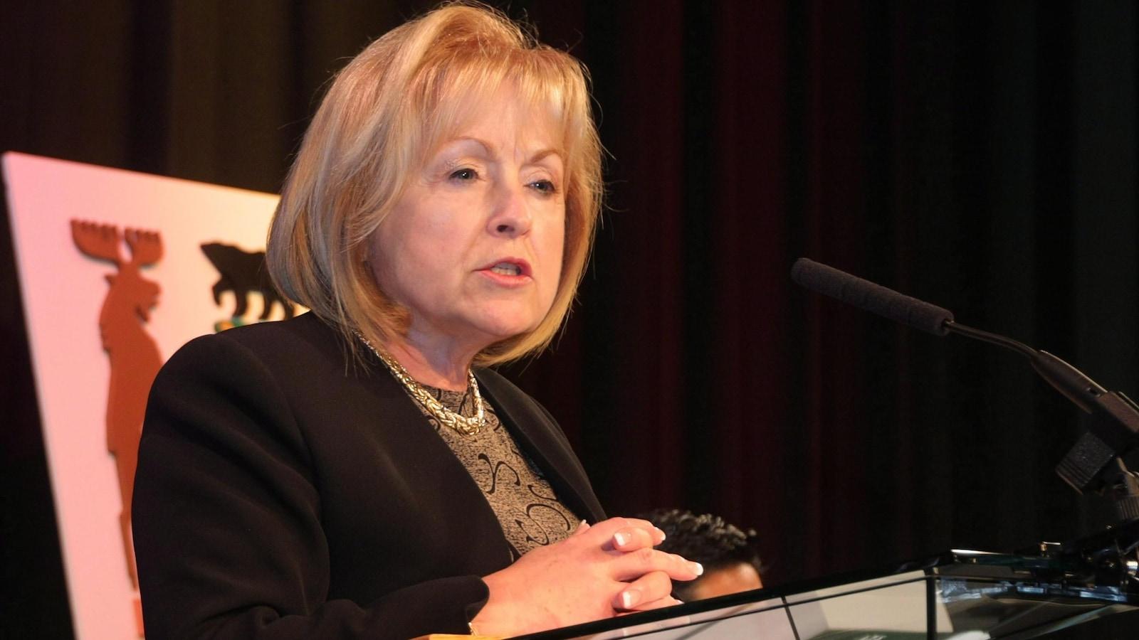 Madeleine Meilleur lorsqu'elle était procureure générale de l'Ontario en 2014.