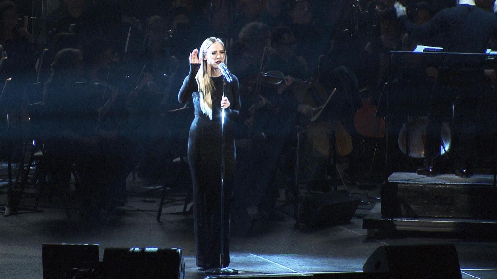 La chanteuse Marie-Mai, lors du spectacle Bonne fête Montréal
