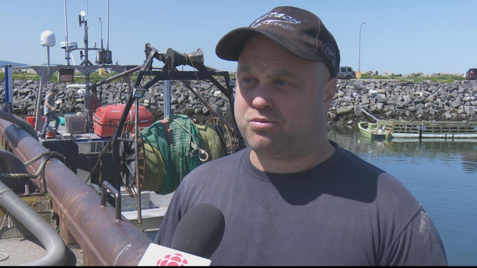 Le président de l'Association des pêcheurs de crevettes de Matane, Nicolas Chouinard.
