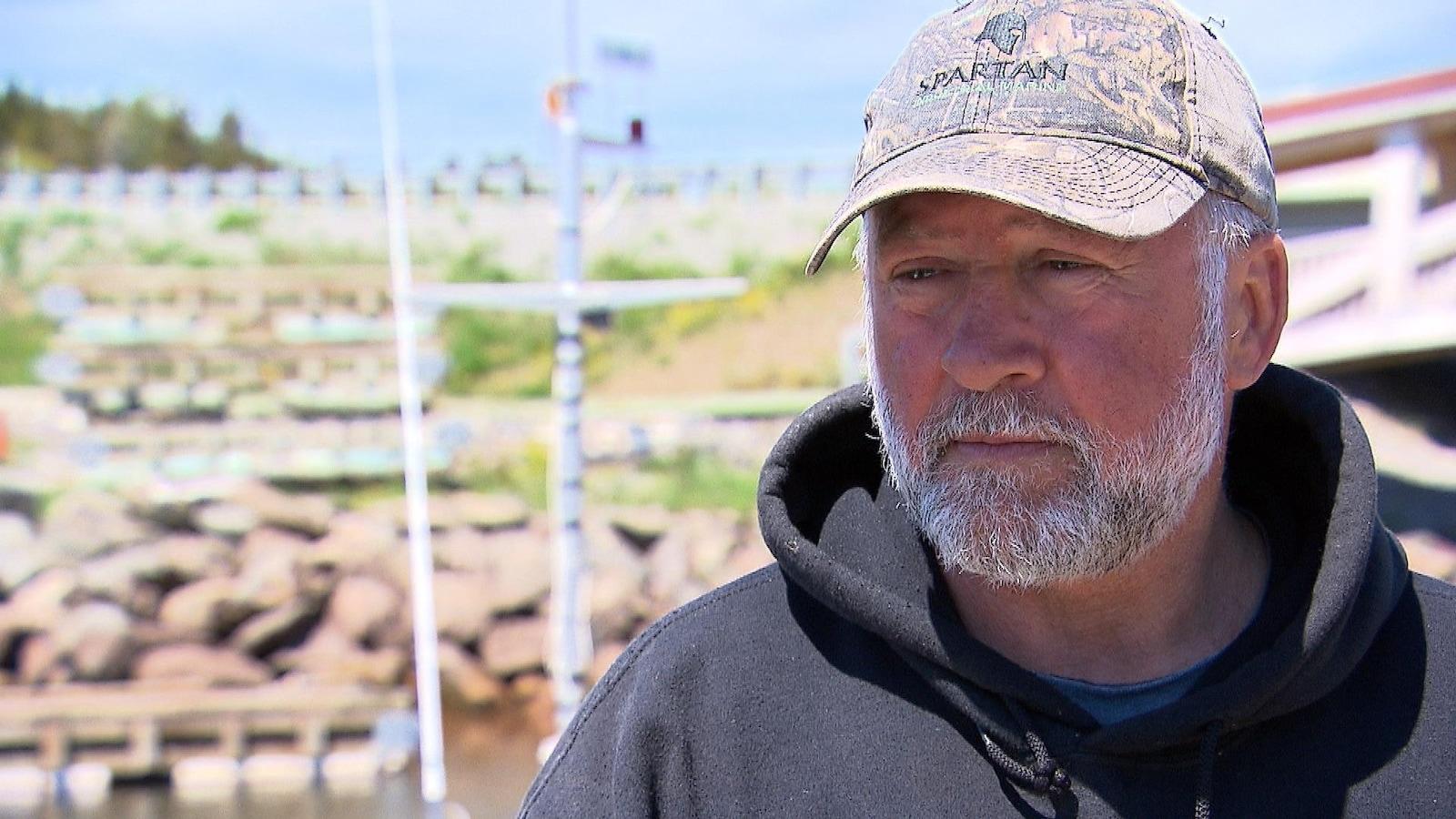 Le directeur général du Regroupement des pêcheurs professionnels du sud de la Gaspésie, O'Neil Cloutier.