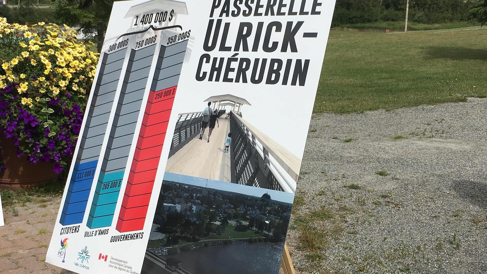 Première pelletée de terre des travaux pour l'aménagement de la passerelle Ulrick-Chérubin