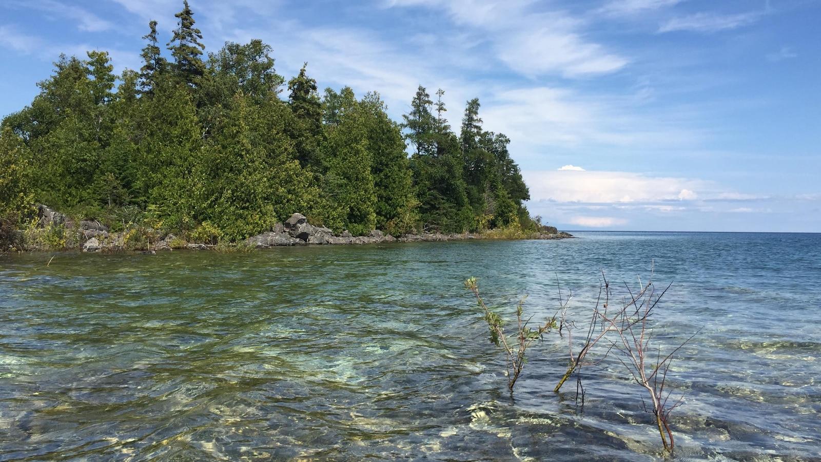 Île dans le lac Huron près de la péninsule de Bruce, dans le Nord de l'Ontario