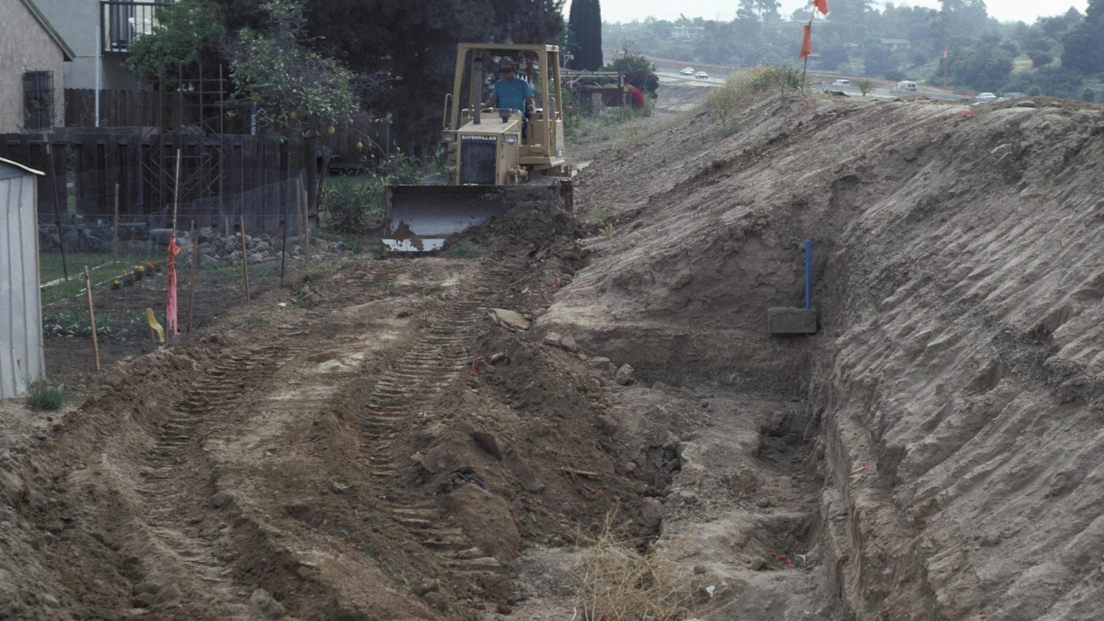 Le site où ont été faites les découvertes archéologiques