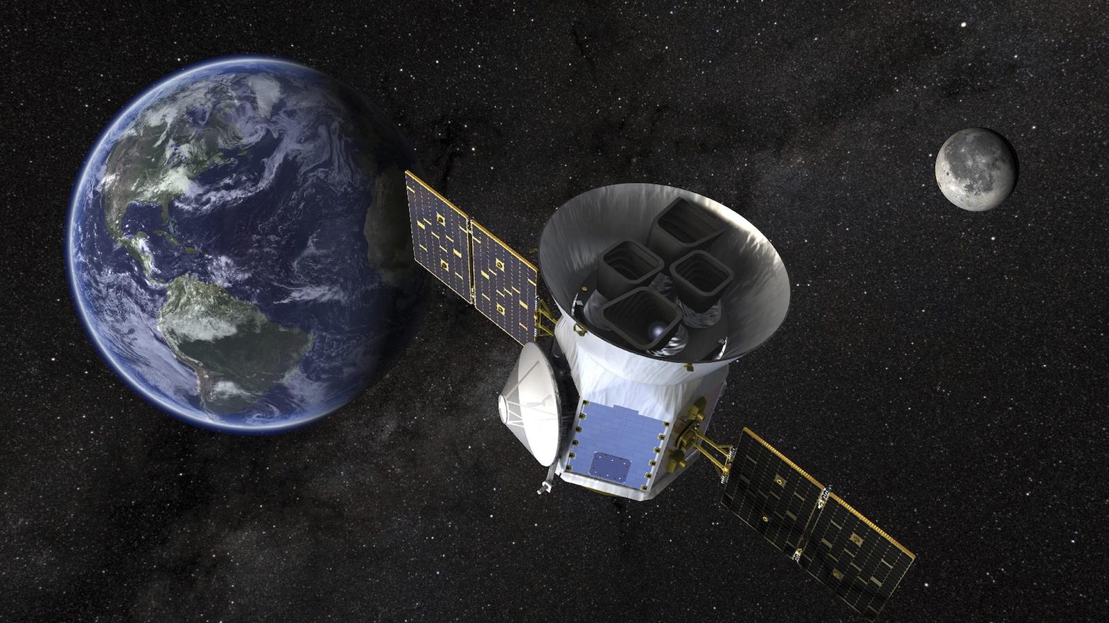 Une illustration duTransiting Exoplanet Survey Satellite