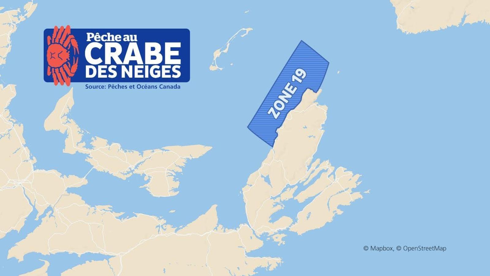 La zone de pêche 19 est située dans le golfe du Saint-Laurent, le long de la côte nord-ouest du Cap-Breton. Elle s'étend de la baie Saint-Laurent à Margaree.