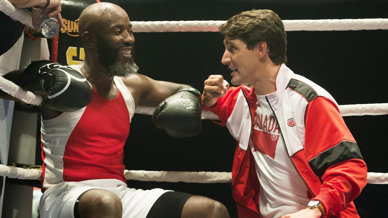 Ali Nestor et Justin Trudeau