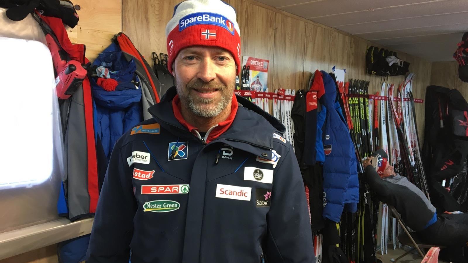 Knut Nystad, chef technicien de l'équipe de ski de fond de Norvège.