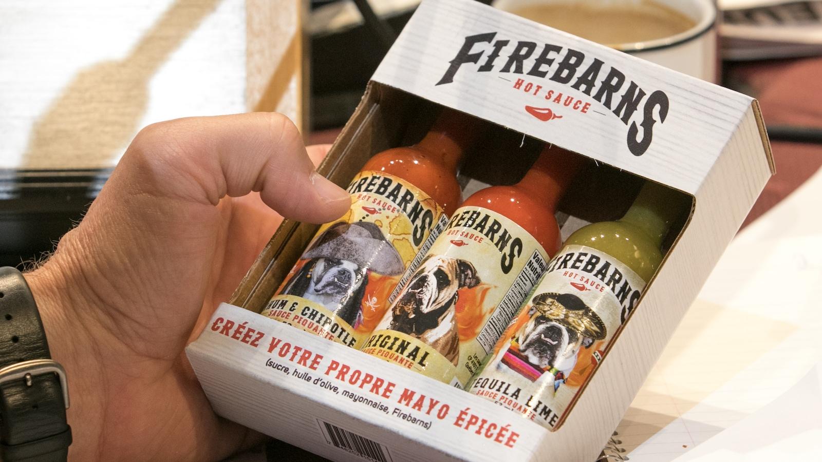 Photo d'une boite de sauce Firebarns