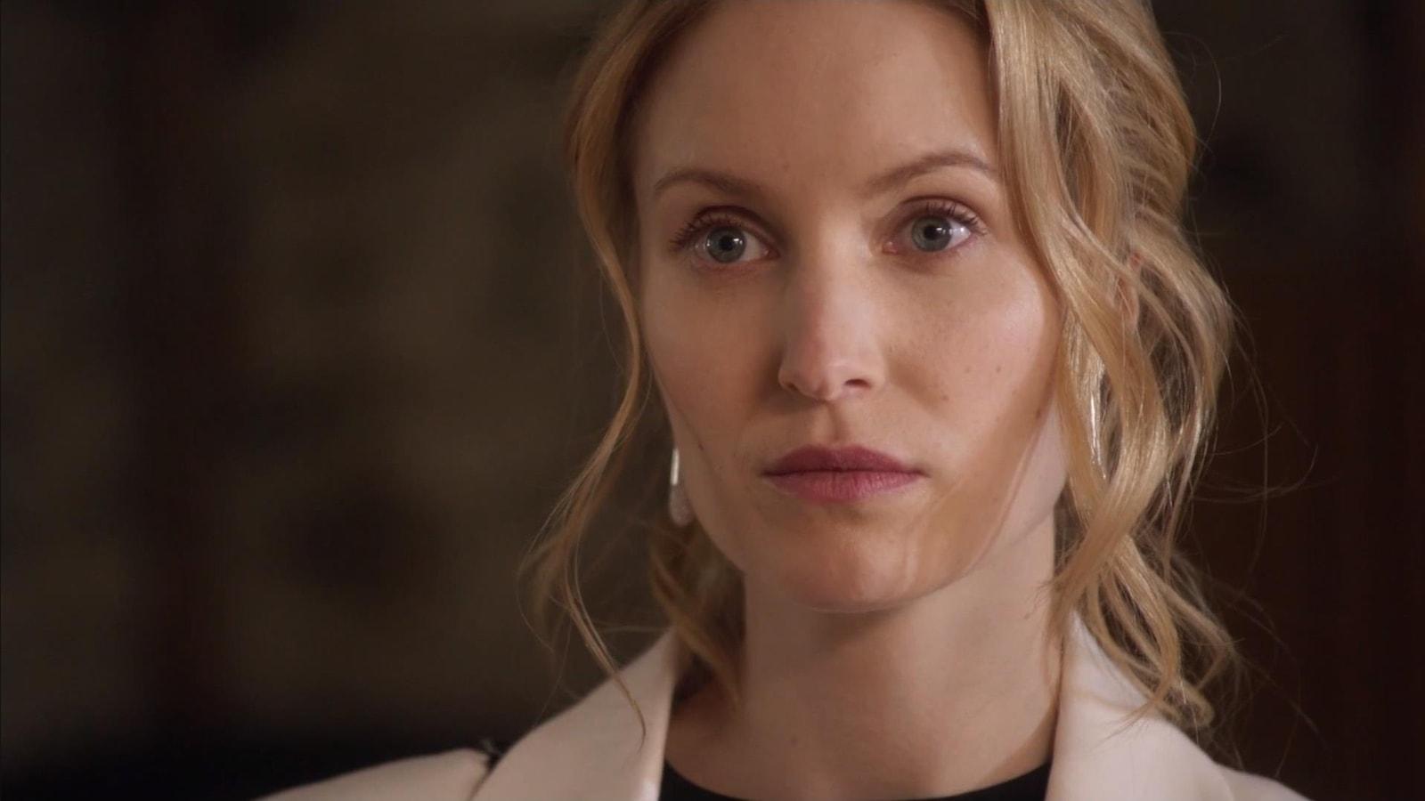 La comédienne Charlotte Legault dans District 31.